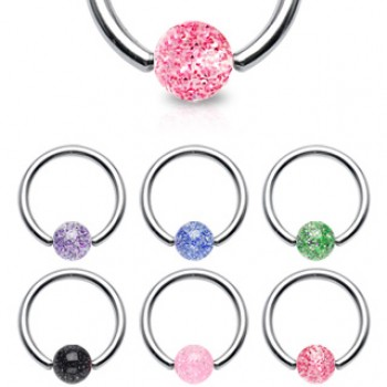 Glitter Ball Captive Ring